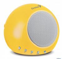 ЗВУКОВЫЕ КОЛОНКИ GENIUS SP-i300, 2W, yellow, USB, встроенный MP3-pleer (воспроизведение с USB-drive)