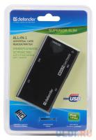 СЧИТЫВАЮЩЕЕ УСТРОЙСТВО USB2.0 Defender SUPERIOR SLIM USB 2.0, универсальный, черный
