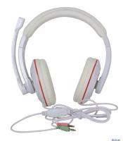МИКРОФОН С НАУШНИКАМИ Gembird MHS-780 , белый, регулятор громкости