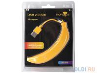 """ХАБ USB 2.0 Konoos UK-44 """"Банан"""" 4 порта"""