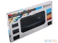 КЛАВИАТУРА Defender проводная ММ Oscar SM-600 USB B(Черный) Pro 104+6кн, 13 доп.ф-ций,
