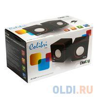 ЗВУКОВЫЕ КОЛОНКИ Dialog Colibri AC-04UP BLACK-ORANGE - 2.0, 6W RMS, черно-оранжевые, пит. от USB