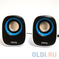ЗВУКОВЫЕ КОЛОНКИ Dialog Colibri AC-06UP BLACK-WHITE - 2.0, 6W RMS, черно-белые, питание от USB