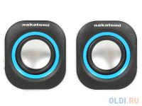 ЗВУКОВЫЕ КОЛОНКИ Nakatomi BC-05UP Black-White, 6W RMS-2.0, USB
