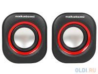 ЗВУКОВЫЕ КОЛОНКИ Nakatomi BC-05UP Black, 6W RMS-2.0, USB