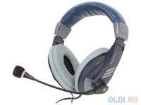 МИКРОФОН С НАУШНИКАМИ Defender Gryphon HN-750 BLUE Регулят. громк., 2м кабель