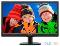 "МОНИТОР  TFT 19"" Philips 193V5LSB2/62(10) Black 1366x768, 5ms, 200 cd/m2, 700:1 (DCR 10M:1), D-Sub, vesa"