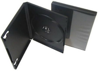 КОРОБКА НА 1DVD, черный 14 мм, стандартный, глянцевая пленка