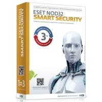 ПО ESET NOD32 Smart Security 2000/XP/Vista/Win 7 (3 ПК 12 месяцев)