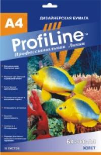 ХОЛСТ PROFILINE БХ-380-А4-10 ХОЛСТ на основе хлопка, 380г/м2, А4, 10л, 1440 dpi