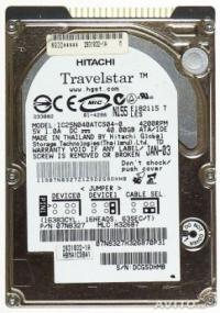 "ЖЕСТКИЙ ДИСК  1.8"" IDE   40.0GB HITACHI Travelstar C3K80 HTC368040H5CE00"