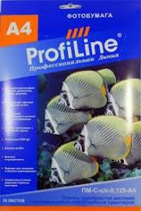 ПЛЕНКА PROFILINE ПМ-С-с/к-0,125-A4-20 Пленка самоклеющаяся серебристая матовая металлизированная для струйных принтеров, 0,125мм, А4, 20л