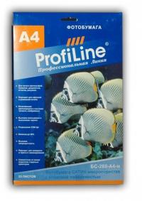 ФОТОБУМАГА PROFILINE микропористая сатин А4 260 г/м2, 25л атласная