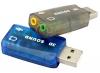 ЗВУКОВАЯ КАРТА ELE USB 2.0 3D виртуальная 5.1 внешняя